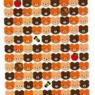 Mind Wave Japan Bear Faces Sticker Sheet Kawaii