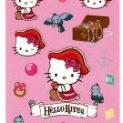 Sanrio Japan Hello Kitty Pirate Sticker Sheet Kawaii