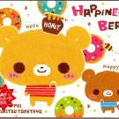 Crux Japan Happiness Bears Memo Pad with Postcard Kawaii