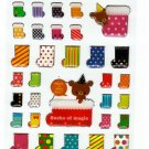 Mind Wave Japan Winter Selection Socks of Magic Epoxy Sticker Sheet Kawaii