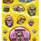 Sanrio Japan Kuririn Hamster Sticker Sheet 2001 Kawaii