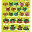 Sanrio Japan Kuririn Hamster Sticker Sheet 2002 Kawaii