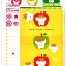 Daiso Japan Mogu Mogu Shiawase Hamster Letter Set with Stickers Kawaii
