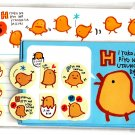 Alpha Japan Yellow Chick Letter Set with Stickers Kawaii