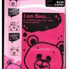Q-Lia Japan I Am Bear Letter Set with Stickers Kawaii