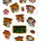 Q-Lia Japan Kittens and Puppies School Puffy Sticker Sheet Kawaii