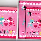 Cram Cream Japan Dress Up Poodles Memo Pad and Letter Set Lot Kawaii