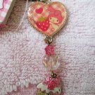 Sanrio Japan My Melody and Strawberry Cake Charm Zipper Pull Kawaii