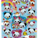 Kamio Japan Panda and Friends Sticker Sheet Kawaii