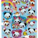 Kamio Japan Panda and Friends Sticker Sheet Kawaii