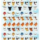 Very Berry Japan A Lot Of Dogs Puffy Sticker Sheet Kawaii