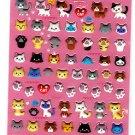 Q-Lia Japan I Love Cat Puffy Sticker Sheet Kawaii