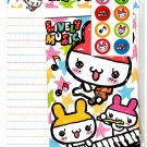 Daiso Japan Lively Music Letter Set with Stickers Kawaii