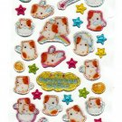 Q-Lia Japan Fuwa Hamu World Hamster Epoxy Sticker Sheet Kawaii