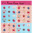 Sanrio Japan Marron Cream Sticker Sheet (B) 1998 Kawaii