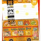 Crux Japan Waku Waku Bus Letter Set with Stickers Kawaii