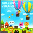 Kamio Japan Wonderful Friends Mini Memo Pad (C) Kawaii
