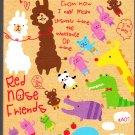 Q-Lia Japan Red Nose Friends Mini Memo Pad (B) Kawaii