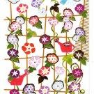 Active Japan Morning Glory Flowers Sticker Sheet Kawaii