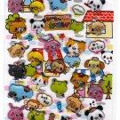 Crux Japan Wai Wai Animals Sticker Sheet (A) Kawaii