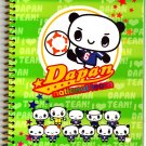 San-X Japan Dapan Panda National Team Spiral Notebook Rare 2002 Kawaii