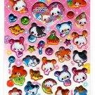 Crux Japan Sewing Bunny Puffy Sticker Sheet Kawaii