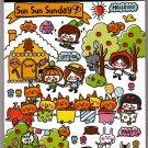 Crux Japan Sun Sun Sunday Mini Memo Pad Kawaii