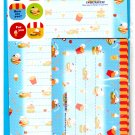 Y-Mail Japan I Love Burger Letter Set with Stickers Kawaii