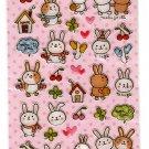 Very Berry Japan Bunny Friends Sticker Sheet Kawaii