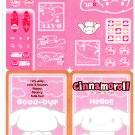 Sanrio Japan Cinnamoroll Jumbo Sticker Seal Sheet by Bandai (D) 2004 Kawaii