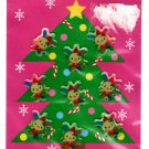 Sanrio Japan Usahana Merry Christmas Epoxy Sticker Sheet 2002 Kawaii