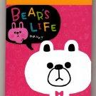 Kamio Japan Bear's Life Mini Memo Pad Kawaii