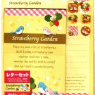 Daiso Japan Strawberry Garden Letter Set with Stickers Kawaii