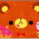 Crux Japan Mogu Mogu Bear Memo Pad with Stickers Kawaii