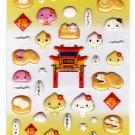 LamPlanning Manjuu Puffy Sticker Sheet Kawaii