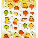 LamPlanning Mikan Chan Puffy Sticker Sheet Kawaii