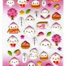 LamPlanning Momo Chan Puffy Sticker Sheet Kawaii