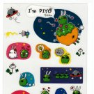 Daiso Japan I Am Piyo Alien Sticker Sheet Kawaii
