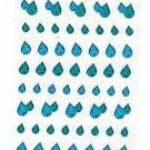Active Japan Water Drops Clear Sticker Sheet Kawaii