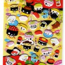 Crux Japan Sushi Friends Puffy Sticker Sheet Kawaii