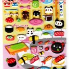 Kamio Japan Panda Sushi Puffy Sticker Sheet Kawaii