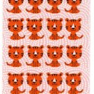 Sakura Japan Year of the Tiger Felt Sticker Sheet (A) Kawaii