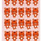 Sakura Japan Year of the Tiger Felt Sticker Sheet (D) Kawaii