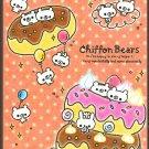 Crux Japan Chiffon Bears Mini Memo Pad Kawaii