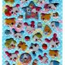Crux Japan Milk Bunnies Puffy Sticker Sheet Kawaii