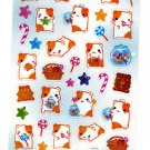 Q-Lia Japan Candy Hamu Hamster Sticker Sheet (A) Kawaii