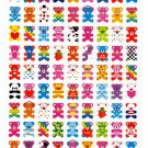 Kamio Japan Colorful Teddy Bears Sticker Sheet Kawaii