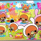 Crux Japan Bears Picnic Memo Pad with Stickers Kawaii