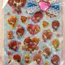 Kamio Japan Pretty Honey Puffy Sticker Sheet with Embellishment Kawaii