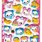 Kamio Japan Happy March Puffy Sticker Sheet (B) Kawaii